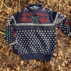 Vintage Polo Ralph Lauren hand knit wool sweater
